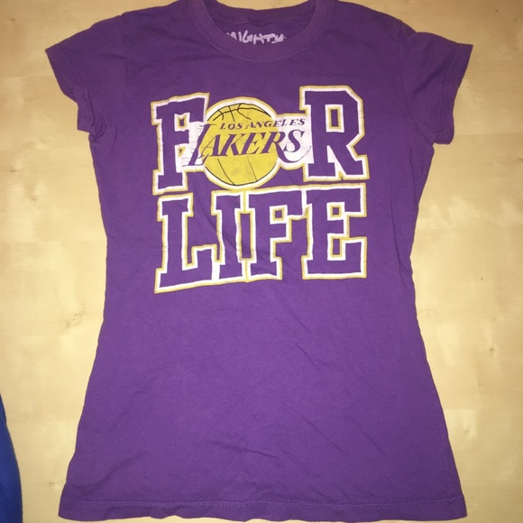 watch e1810 df083 LA Lakers Purple T Shirt Large Women's Lebron